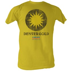 Usfl - Mens Denver Gold T-Shirt In Mustard