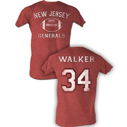 Usfl - Mens Walker Bnw T-Shirt In Red Heather