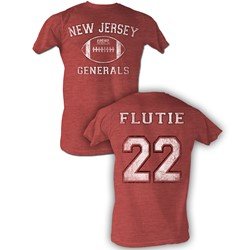Usfl - Mens Flutie Bnw T-Shirt In Red Heather