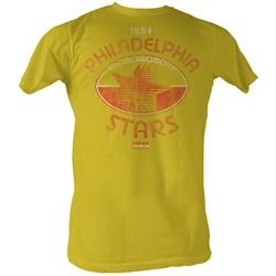 Usfl - Mens Starball T-Shirt In Mustard