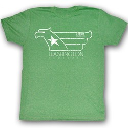 Usfl - Mens White Hawk T-Shirt In Kelly Green Heather