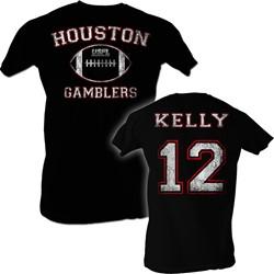 Usfl - Mens Kelly T-Shirt In Black