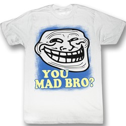 You Mad? - Mens Mad Bro? T-Shirt In White
