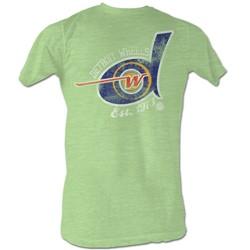World Football League - Mens Detroit Wheels T-Shirt In Green Heather