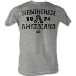 World Football League - Mens B American T-Shirt In Grey Heather