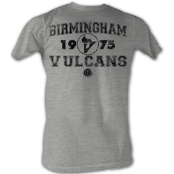 World Football League - Mens Vulcans T-Shirt In Grey Heather