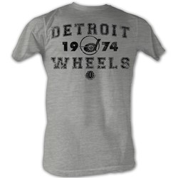 World Football League - Mens Da Wheels T-Shirt In Grey Heather