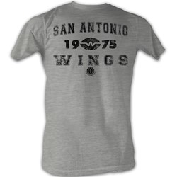 World Football League - Mens Wings T-Shirt In Grey Heather