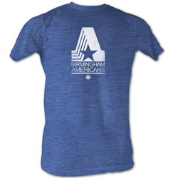 World Football League - Mens Bham Am White T-Shirt In Sea Blue Heather