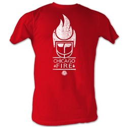 World Football League - Mens Fire White T-Shirt In Red