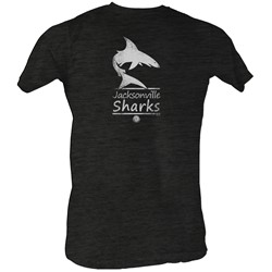 World Football League - Mens Sharks White T-Shirt In Charcoal