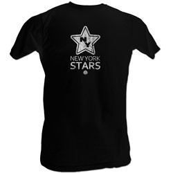 World Football League - Mens Stars White T-Shirt In Black