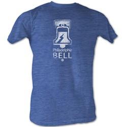 World Football League - Mens Bell White T-Shirt In Sea Blue Heather