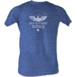 World Football League - Mens Wings White T-Shirt In Sea Blue Heather