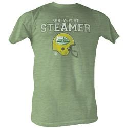 World Football League - Mens Steamer T-Shirt In Green Heather