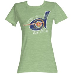 World Football League - Womens Detroit Wheels T-Shirt In Green Heather