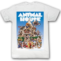 Animal House - Mens Big Mommas House T-Shirt in White