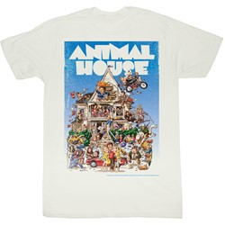 Animal House - Mens Poster Time T-Shirt in White