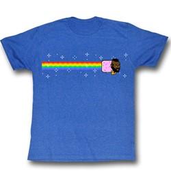 Mr. T - Mens Nyan Nyan Nyan T-Shirt in Sea Blue Heather