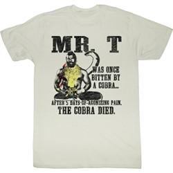Mr. T - Mens Cobra Died T-Shirt in Vintage White