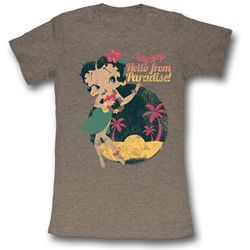 Betty Boop - Womens Hello From Paradise T-Shirt