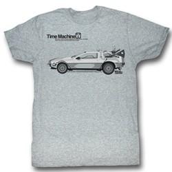 Back To The Future - Mens Delorean T-Shirt