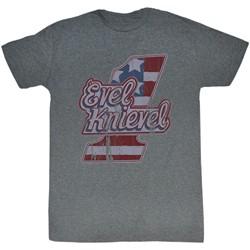 Evel Knievel - Mens Logo Tee T-Shirt