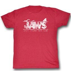Jaws - Mens Swim Club T-Shirt in Cherry Tri Blend