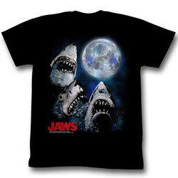 Jaws - Mens Three Shark Moon T-Shirt
