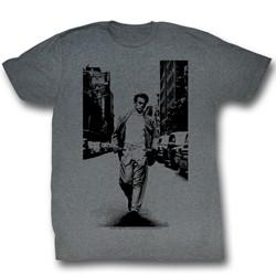 James Dean - Mens Street Walker T-Shirt in Arctic Gray Triblend