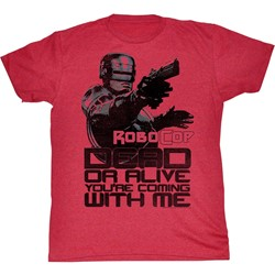 Robocop - Mens Dead Or Alive T-Shirt in Cherry Tri Blend