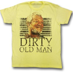 Red Foxx - Mens Dirty T-Shirt in Yellow
