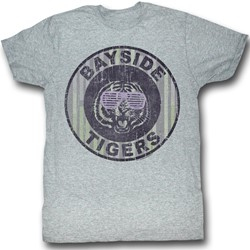 Saved By The Bell - Mens Pinstripe Bayside T-Shirt