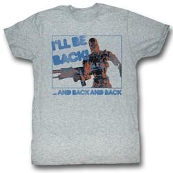 Terminator - Mens Be Back T-Shirt