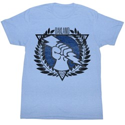 Usfl - Mens Oakland T-Shirt in Light Blue