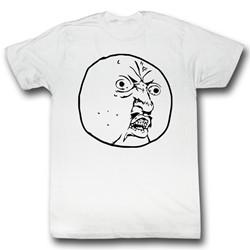 Y U No - Mens Why Not T-Shirt