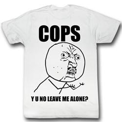 Y U No - Mens Cops T-Shirt