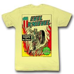 Evel Knievel - Mens Evel Comic T-Shirt