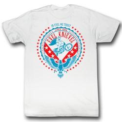 Evel Knievel - Mens Round & Round T-Shirt