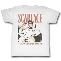 Scarface - Mens Da World T-Shirt