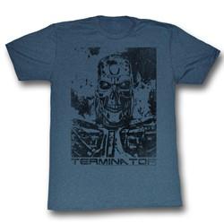 Terminator - Mens Black And Blue T-Shirt