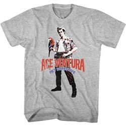 Ace Ventura - Mens Red Black Blue Ace T-Shirt