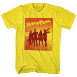 Baywatch - Mens Orange T-Shirt