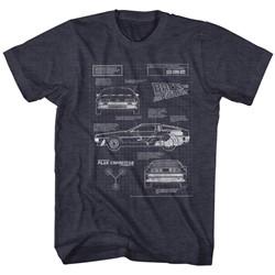 Back To The Future - Mens Blueprint 2 T-Shirt