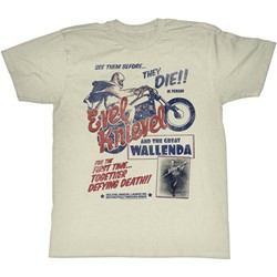 Evel Knievel - Mens Wallenda T-Shirt