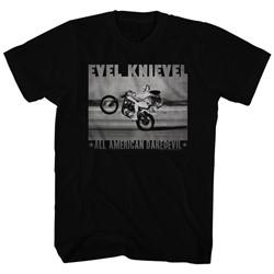 Evel Knievel - Mens Fade Daredevil T-Shirt