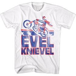 Evel Knievel - Mens Smeared T-Shirt