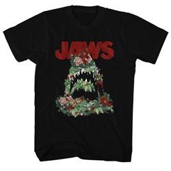 Jaws - Mens Floral Shark T-Shirt
