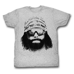 Macho Man - Mens Face T-Shirt