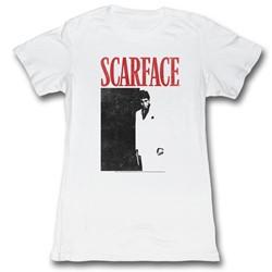 Scarface - Womens Blackandred T-Shirt